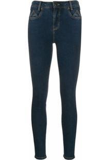 Current/Elliott Calça Jeans Skinny Cintura Alta - Azul