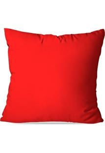 Capa De Almofada Lisa Vermelha 35X35Cm