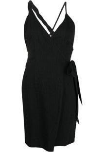 Nanushka Vestido Envelope Assimétrico Deja - Preto