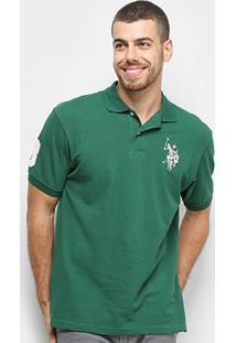 Camisa Polo U.S. Polo Assn Lisa Big Poney Masculina - Masculino-Verde