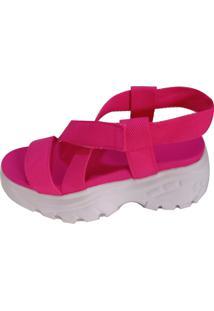 Sandália Vesture Tratorada Flatform Pink - Kanui