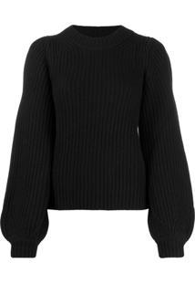 Michael Michael Kors Puff Sleeve Sweater - Preto