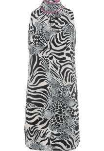 Vestido Seda Fiorella Gola - Animal Print