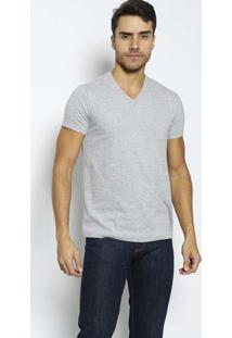 Camiseta Com Bordado- Cinza Clarojavali