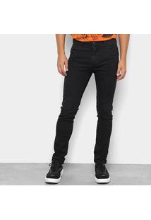 Calça Jeans Skinny Coca-Cola Fit Masculina - Masculino-Preto