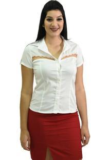 Camisa Mg Longa Moché - Feminino-Branco