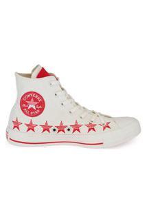 Tênis Converse Chuck Taylor All Star Hi Estrela Amendoa/Vermelho Ct14770002.35