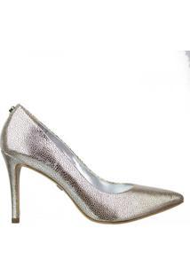 Sapato Scarpin Araia Shine Jorge Bischoff - Feminino-Prata