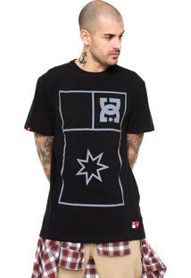 Camiseta Dc Shoes Stretch Flag Preta