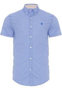 Camisa Masculina River Gingham - Azul