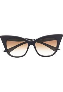 Dita Eyewear Óculos De Sol Gatinho Oversized Manifique - Azul