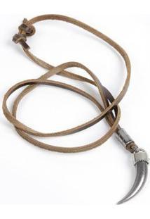 Colar Polo State Beake 003 - Masculino-Marrom