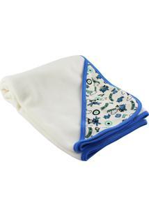 Cobertor Para Bebê Lovatinho Em Soft Fly Fly Creme