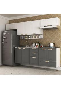 Cozinha Completa 6 Peças Americana Multimóveis 5669S Branco/Grafite
