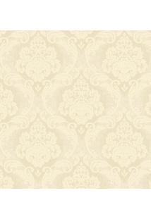 Papel De Parede Arabescos- Bege Claro & Amarelo Claro
