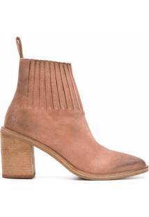 Marsèll Ankle Boot De Camurça E Couro - Neutro