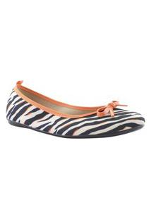 Sapatilha Feminina Com Laço Conforto Moleca 5314506 Moleca Zebra