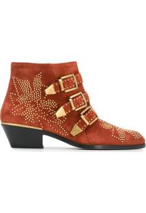 Chloé Ankle Boot Susanna - Laranja