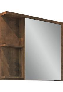 Espelheira Para Banheiro Nikko 64X68,5Cm Wengue