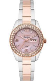Relógio Orient 559Tr008-R2Sr Feminino - Feminino-Prata+Rosa