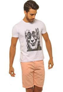 Camiseta Joss Premium New Gandhi Masculina - Masculino-Branco