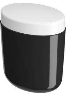 Porta-Algodão/Cotonete Coza Full Preto - Kanui