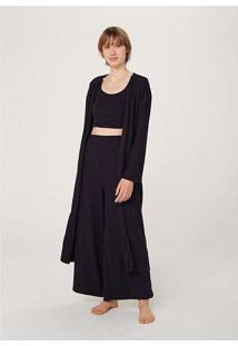 Robe Feminino Alongado Preto