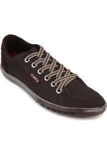 Sapatênis Spell Shoes Masculino - Masculino-Marrom+Vermelho