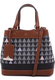 Mini Emma Triangle Black -Personalização Bag Charm   Schutz