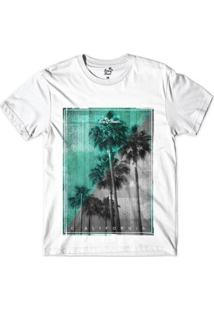 Camiseta Long Beach Vintage Sublimada Masculina - Masculino-Branco