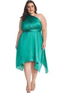 Vestido Lala Dubi Plus Size Infinity Dress Midi - Feminino-Verde