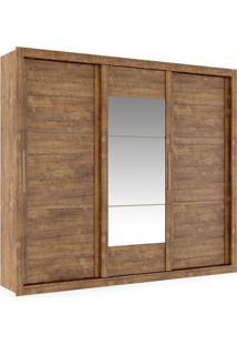 Armário 3 Portas De Correr Com Espelho Central, Native Com Atacama, Flat