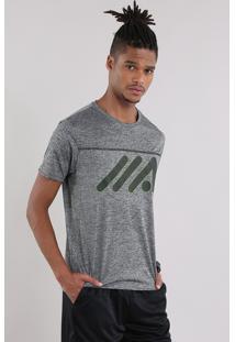 Camiseta Ace Mescla Cinza Mescla