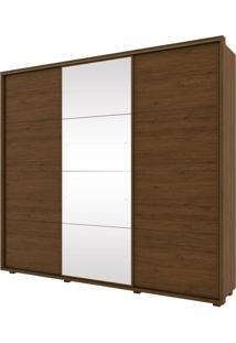 Guarda Roupa Casal 3 Portas 6 Gavetas E Espelho Henn