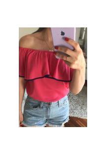 Blusa Feminina Mac-Lu Ciganinha Linha Premium Cereja Cherryll