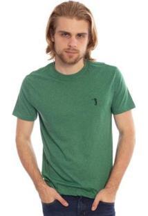 Camiseta Lisa Aleatory Masculina - Masculino-Verde Escuro