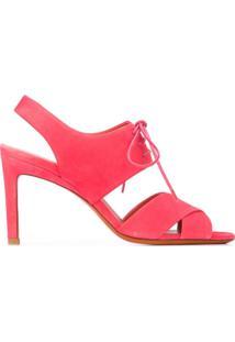 Santoni Sandália Com Amarração - Rosa