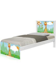 Cama Solteiro Adesivada Safari Girafa Casah