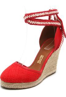 Sandália Santa Lolla Espadrille Vermelha