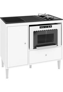 Balcão De Cozinha Mônaco Para Cooktop 1 Pt 1 Gv Branco
