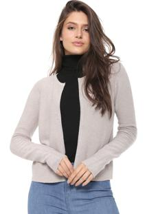Cardigan Facinelli By Mooncity Tricot Lurex Bege