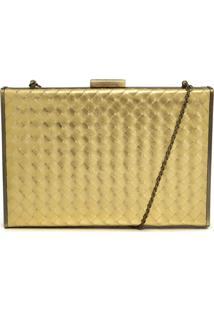 Clutch Capodarte Textura Dourado