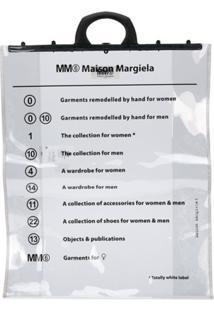 Mm6 Maison Margiela Bolsa Tote Transparente - Neutro