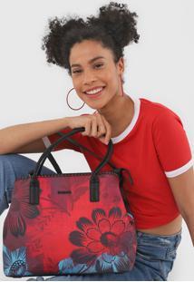 Bolsa Sacola Desigual Floral Vermelha - Vermelho - Feminino - Dafiti