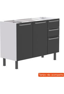 Balcão De Cozinha Para Pia Verona 2 Pt 3 Gv Cinza