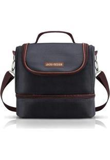 Bolsa Térmica Jacki Design Com 2 Compartimentos Masculino - Masculino-Preto+Marrom
