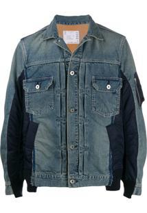 Sacai Contrasting Denim Jacket - Azul