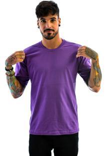 Camiseta Rich Young Básica Gola Careca Lisa Roxa