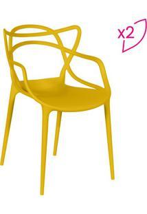 Jogo De Cadeiras De Jantar Solna- Amarelo- 2Pã§S-Or Design
