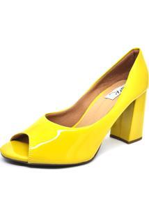81ebe9643 Sapato Amarelo Salto Baixo feminino | Shoelover